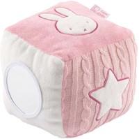 Nijntje - Knuffels - roze gebreid kubus