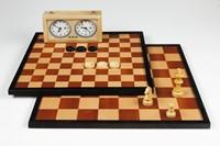 LongField Games Schaakbord/Dambord Veld 49 mm
