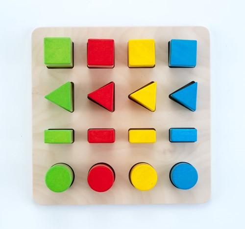 Planet Happy Sorteerbord geometrisch kleur/grootte 4x