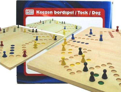 HOT Games houten spel Keezenspel 4 plus 6 personen
