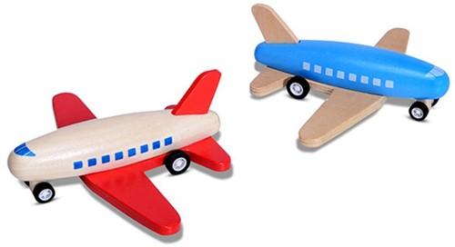 BS Toys Race vliegtuig (blauw)