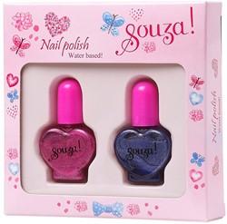 Souza Nagellak set 1x fuchsia, 1x paars (2 flesjes/6 sets)