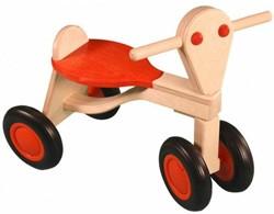Van Dijk Toys -  houten loopfiets - Loopfiets berken, oranje