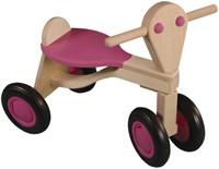Van Dijk Toys houten loopfiets roze - berken