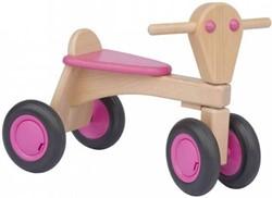 Van Dijk Toys houten loopfiets Roze - beuken