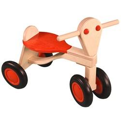 Van Dijk Toys houten loopfiets Oranje - beuken