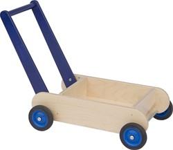 Van dijk toys houten loopwagen blauw
