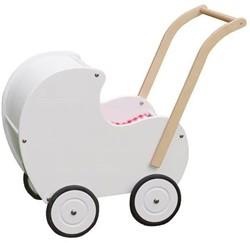 Van Dijk Toys  houten poppenmeubel Poppenwagen wit