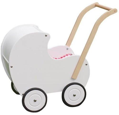 Van Dijk Toys Poppenwagen klassiek Wit