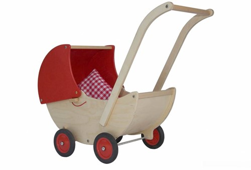 Van Dijk Toys Poppenwagen rood