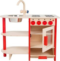 Van Dijk Toys houten keuken Combi Keuken rood kleuter