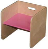 Van Dijk Toys Kubusstoel roze
