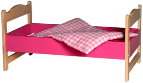 Van Dijk Toys Poppenledikant roze
