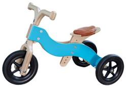 Van Dijk Toys houten loopfiets Dike-Trike natural 2 in 1