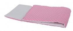 Van Dijk Toys  poppen accessoires Dekje wit met roze stippen