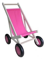 Van Dijk Toys houten poppenwagen Poppenbuggy roze