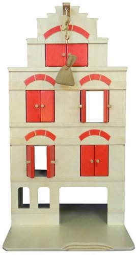 Van Dijk Toys Pakhuis rood inclusief erwten zakje