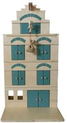 Van Dijk Toys speelstad gebouw houten pakhuis Groen