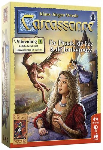 999 Games spel Carcassonne: De Draak, de Fee en de Jonkvrouw