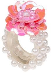 Souza Ring Mary, l.rose-parel, volledig elastisch
