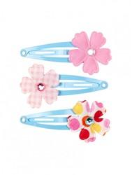 Souza Haar clips Eva, met bloem multi colour (3 stuks/kaartje, 6 kaartjes)
