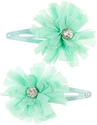 Souza Haar clips Fabienne, met kleine bloemen, mint (2 stuks/kaartje, 6 kaartjes)