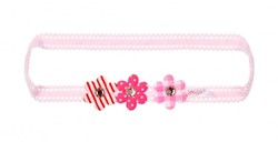 Souza - Sieraden - Hair band Eva, with flower, pink