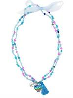 Souza - Sieraden - Necklace Freda, with heart, blue