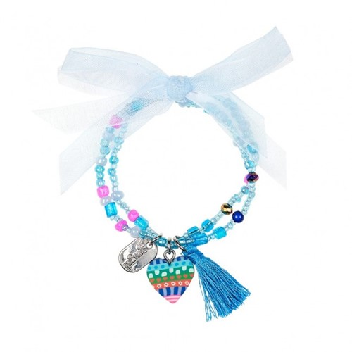 Souza - Sieraden - Bracelet Freda, with heart, blue