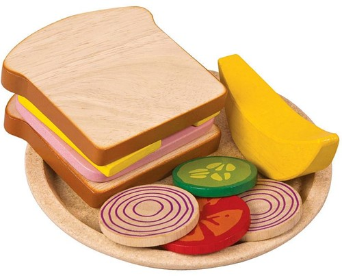 Plan Toys  houten keuken accessoires Sandwich Meal