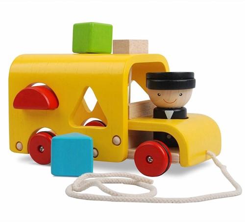 Plan Toys houten sorteerbus