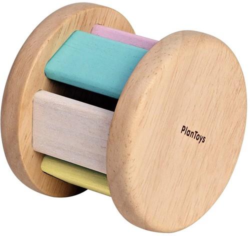 Plan Toys houten rolspeeltje regenboogkleuren