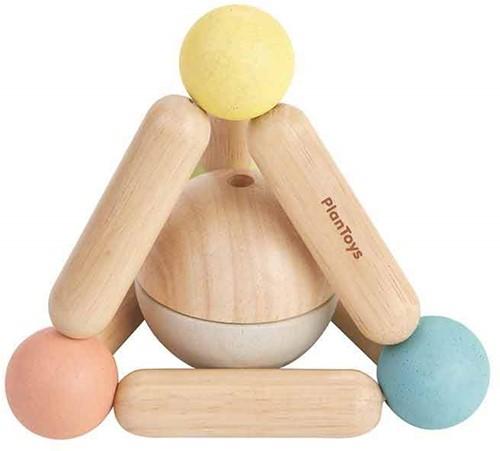 Plan Toys houten pastel rammelaar Driehoek