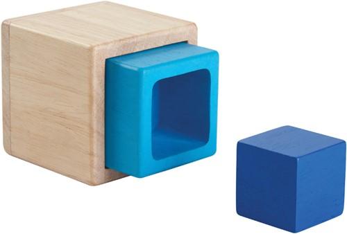 Plan Toys houten stapeldoosjes