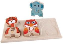 Plan Toys houten puzzel Dieren