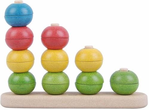Plan Toys  houten stapelfiguur Sorteer en tel-1