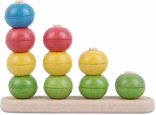Plan Toys  houten stapelfiguur Sorteer en tel