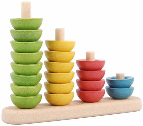 Plan Toys  houten stapelfiguur Sorteer en tel-2