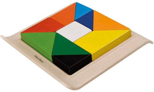 Plan Toys  houten vormenpuzzel Twisted Puzzle