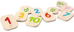 Plan Toys  houten Braille Nummers 1-10