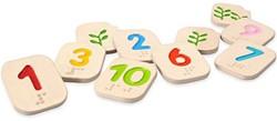 Plan Toys  houten kinderspel Braille Numers 1-10