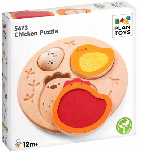 Plan Toys  houten vormenpuzzel Chicken Puzzle