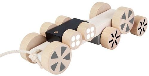 Plan Toys houten trekfiguur stapelvoertuigen