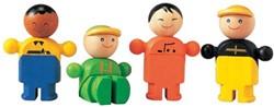 Plan Toys  Plan City houten speelstad poppentjes Winkeliers