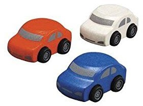 Plan Toys Plan City houten familie auto's