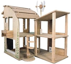 Plan Toys houten poppenhuis Green Dollhouse