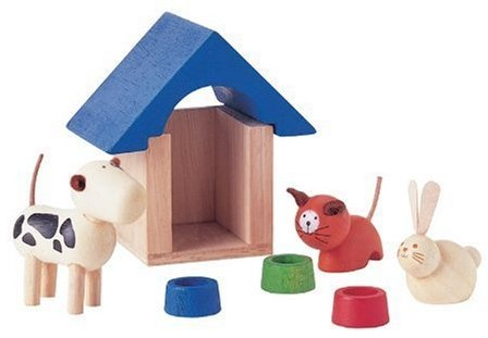 Plan Toys  houten poppenhuis accessoire Dierenaccessories