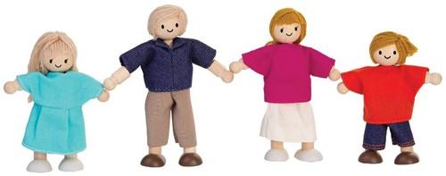 Plan Toys houten poppenhuis poppen familie