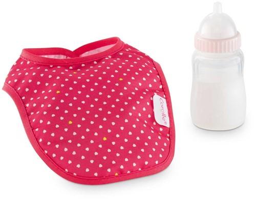 Corolle poppen accessoires Bib & Magic Milk Bottle Cherry DMT96-1