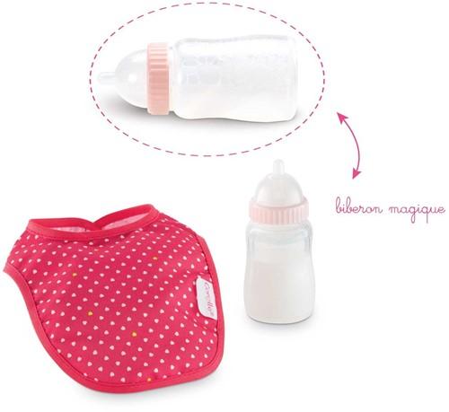 Corolle poppen accessoires Bib & Magic Milk Bottle Cherry DMT96-2